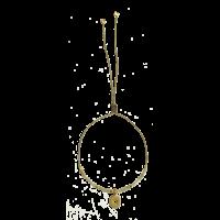 Bracelet Alphabet City Etoile Gris Or