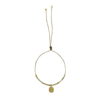 Bracelet Alhabet City Oeil Gris Or