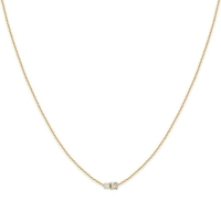 Collier Amants Cristal/ White Opal Or