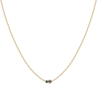 Collier Amants Silver Night/ Jet Or