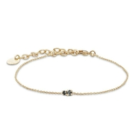 Bracelet Amants Silver Night/ Jet Or