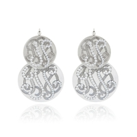 Boucles d'Oreilles Very Diva Double Strass GM
