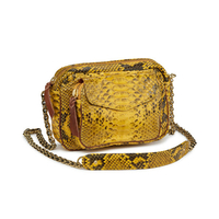 Sac Python Charly Jaune Chaine Or
