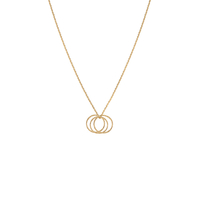 Collier 3 Circles Gold