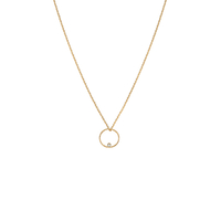 Collier Circle Dot White Opal