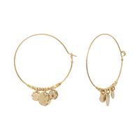 Boucles d'Oreilles Créoles Moon Gold