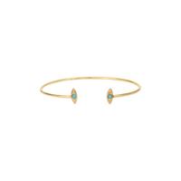 Jonc Navette Turquoise Gold