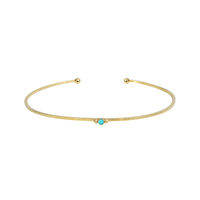 Jonc Pure Turquoise Gold