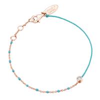 Bracelet Email Turquoise Vermeil Rosé
