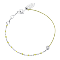 Bracelet Email Jaune Fluo Argent