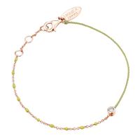 Bracelet Email Jaune Fluo Vermeil Rosé