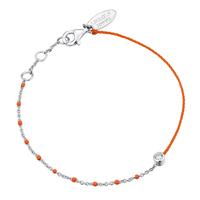Bracelet Email Orange Fluo Argent