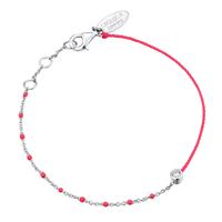 Bracelet Email Rose Fluo Argent