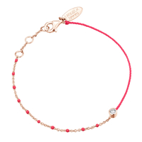 Bracelet Email Rose Fluo Vermeil Rosé