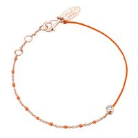 Bracelet Email Orange Fluo Vermeil Rosé