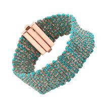 Bracelet Silky Turquoise Vermeil Rosé