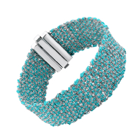 Bracelet Silky Turquoise Argent
