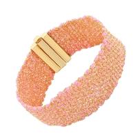 Bracelet Silky Rose pale Baby Vermeil