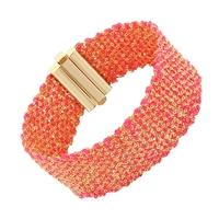 Bracelet Silky Rose Fluo Vermeil