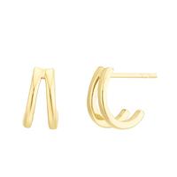 Boucles d'Oreilles Ring Duo Vermeil