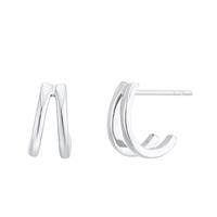 Boucles d'Oreilles Ring Duo Argent