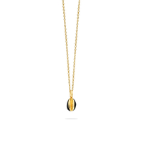 Collier Cauris Noir Or