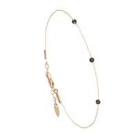 Bracelet Chaine 3 Perles Or Onyx