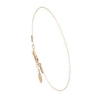 Bracelet Chaine 3 Perles Or Labradorite Blanche