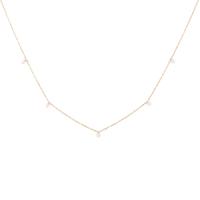 Collier Chaine Perle Or Labradorite Blanche