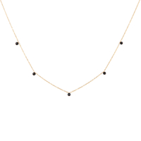 Collier Chaine Perles Or Onyx