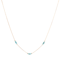 Collier Chaine Multi Or Turquoise
