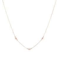 Collier Chaine Multi Or Quartz Rose