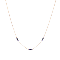 Collier Chaine Multi Or Quartz Bleu