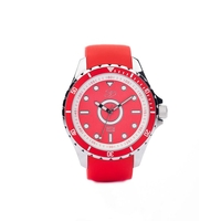Montre Mixte Master Silver Red Hot