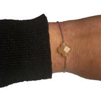 Bracelet Trèfle Argent Pierre Nude