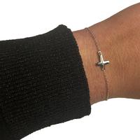 Bracelet Zag Croix Argent