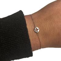 Bracelet ZAG Trèfle Cercle Argent