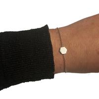Bracelet ZAG Hexagone Argent