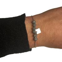 Bracelet ZAG Argent Boules Gris