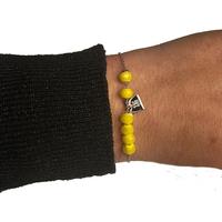 Bracelet ZAG Argent Boules Jaune