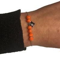 Bracelet ZAG Argent Boules Orange