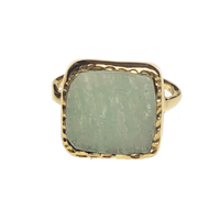 Bague Amazonite Or