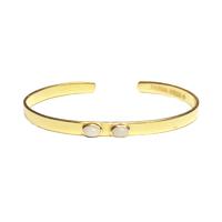Bracelet Mini Jonc Duo Nacre Or
