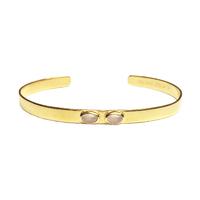 Bracelet Mini Jonc Duo Nacre Rose Or