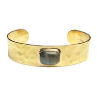 Bracelet Jonc Labradorite Or