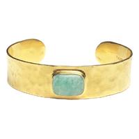 Bracelet Jonc Turquoise Or