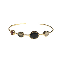 Bracelet Multi Pierres Noir Or