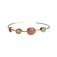 Bracelet Multi Pierres Rose Or