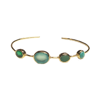 Bracelet Multi Pierres Turquoise Or