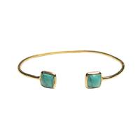 Bracelet Jonc Toi & Moi Turquoise Or
